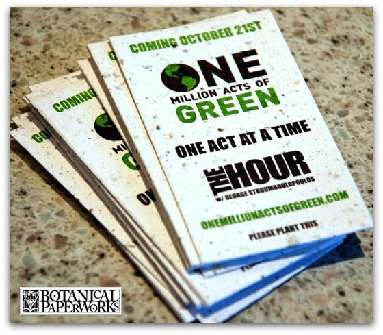 One Million Acts Of Green Starting With Plantable Business Cards