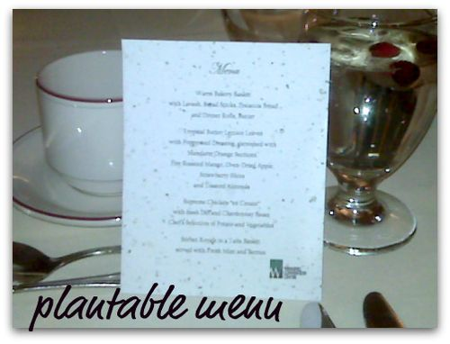 Plantable menu card
