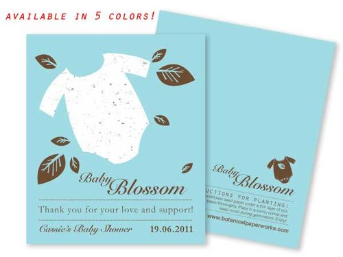 Plantable baby shower seed favor - Onesie