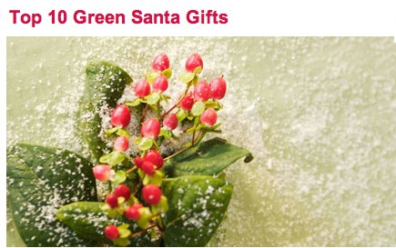 Top 10 Green Santa Gifts