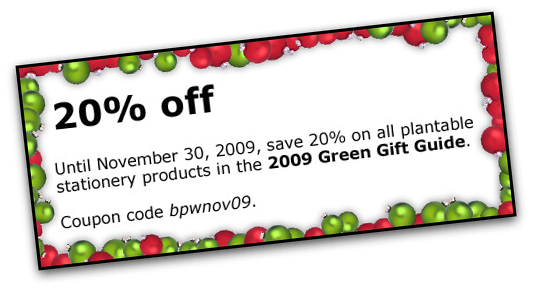 Save on the 2009 Green Gift Guide