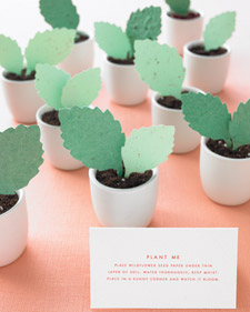 Plantable paper leaves, eco-friendly paper