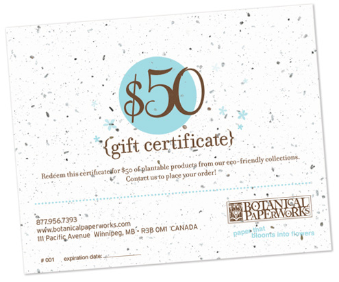 Gift-certificate-plantable-ecofriendly-paper