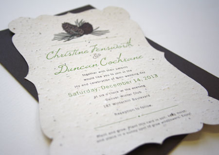 Plantable wedding invitations for Fall and Winter Stationery – Fall or Winter Theme Invitation Cards