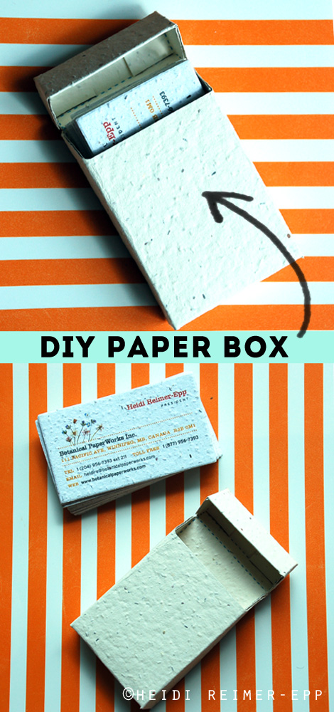picture relating to Printable Business Card Paper referred to as do-it-yourself job Paper Box for office environment playing cards and magic formula notes