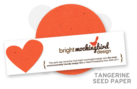 Tangerine seed paper, stationery blogs