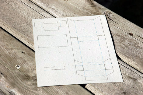 Free printable paper box template