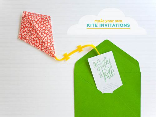 Make your own kite invitation with a free printable