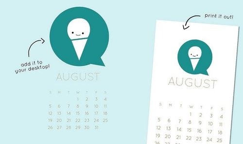 Wild Olive_ calendar_ print and post for august
