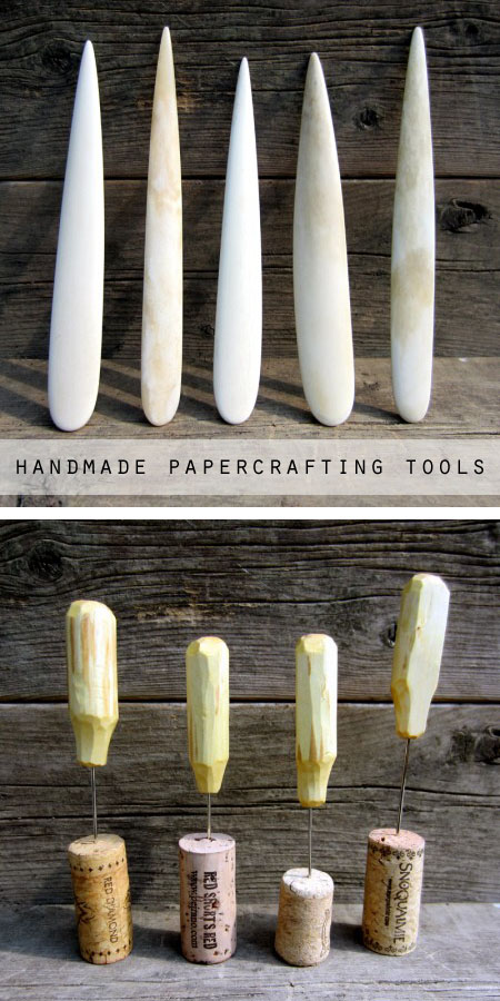 Handmade papercrafting and bookbinding tools